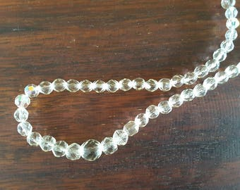Beautiful crystal cut glass necklace