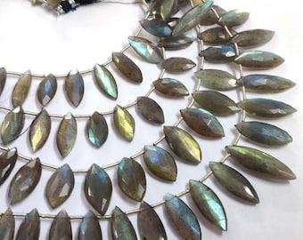 Cabochon Jewelry Top Drilled Gemstone Polished Gemstone Size 6x12 MM 15 Pieces Natural Labradorite Gemstone Marquise Shape Stone