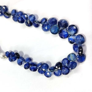 Mystic Kyanite Faceted Almond pear beads,kyanite faceted pear beads,AAA quality kyanite faceted almond pear briolettes 30-45mm 20 pieces