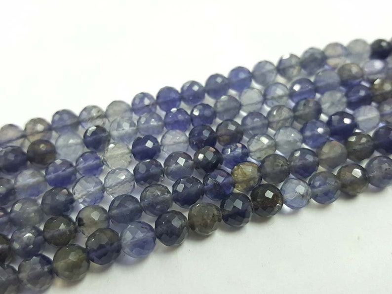 iolite necklace beads Handmade Necklace beads natural beads High Quality iolite necklace inch 9/'