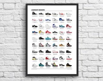 Art-Poster 50 x 70 cm - Legendary Sneakers