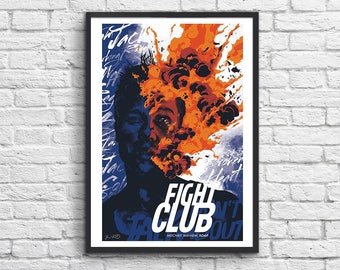 Art-Poster 50 x 70 cm - Fight Club version 2