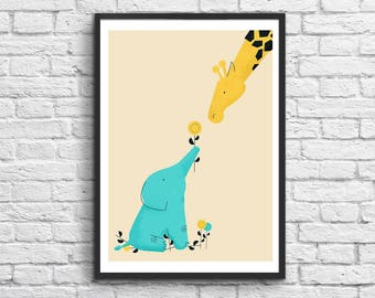 Affiche Art-Poster 50 x 70 cm - Baby Elephant