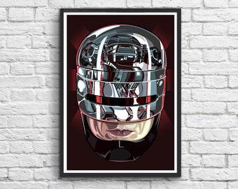 Art-Poster 50 x 70 cm - Robocop Movie Fan-art