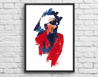 Art-Poster 50 x 70 cm - Doc Brown - Back to the future