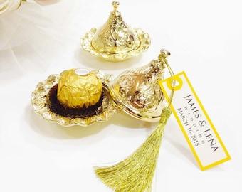 Unique wedding favors, Elegant wedding favors, Baptism favors, Gold wedding favors, Wedding favors for guests, Engagement favors