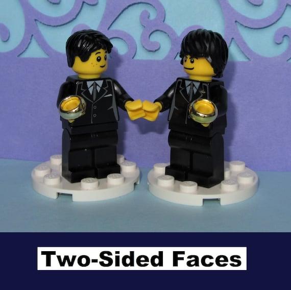 LEGO 2 Wedding Minifigure Figure  Blue Suit Groom Best Man Usher Pageboy