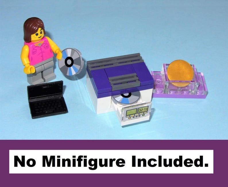 MOC Black Tiled Bathroom Toilet Shower Sink Miniature WC MADE OF LEGO BRICKS