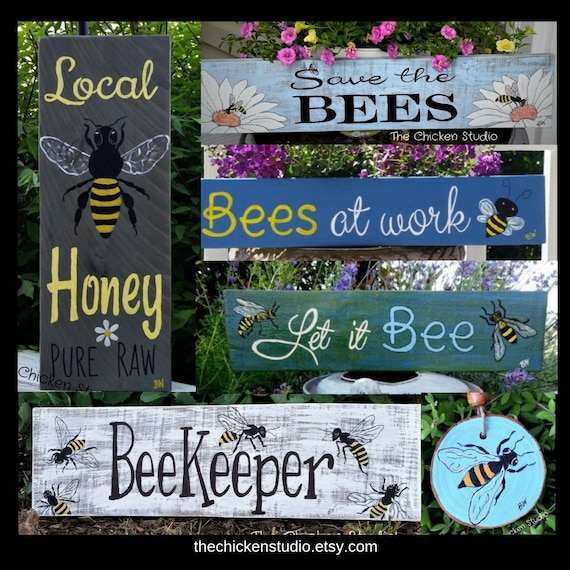 HONEY BEES BEE KEEPER LOCAL HONEY aluminum sign HONEY FOR SALE SUPPLIES