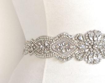 b7e89d0855 Wide bridal belt   Etsy