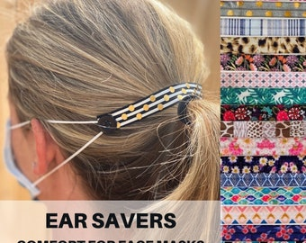 Ear Savers for Face Masks- Comfortable Mask Extenders for PPE- Stretch Mask Holder's -Face Mask Button Straps- Ear Guards Buttons