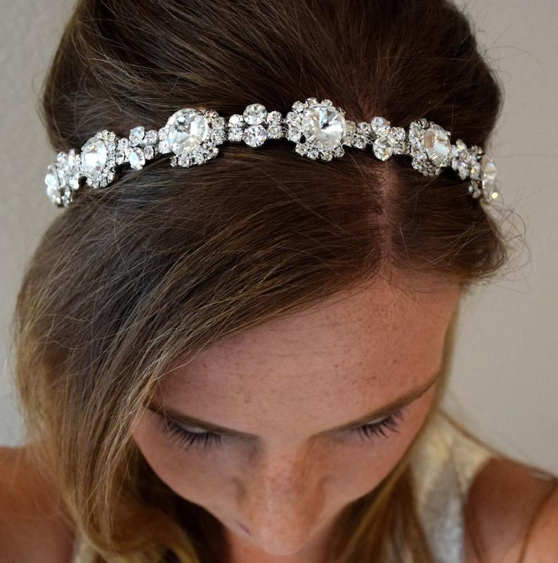 Rhinestone Bridal Headband EYM B027 Bridal Hair Piece