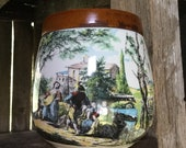 Vintage Humidor, Vintage Ceramic Humidor, Tobbaciana, Vintage Cigar Jar, Tobacco Jar, Whitecross Product, Made in Italy, Hand Made