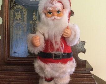 Renalde Heavy Cast Aluminum Standing Santa Claus Double Cake Mold 1950s Christmas