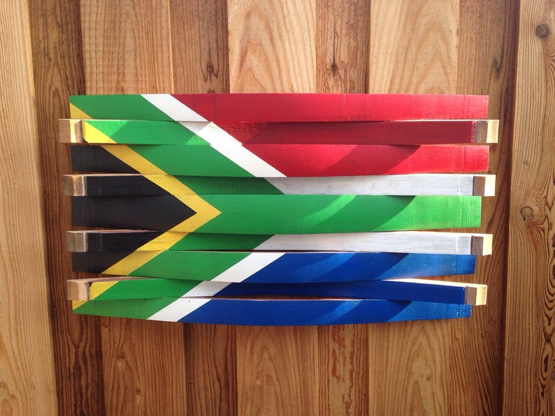 South Africa Flag Wooden South Africa Flag Oak Wood Flag Wooden Wall Art 3d Wood Art Missionary Gift