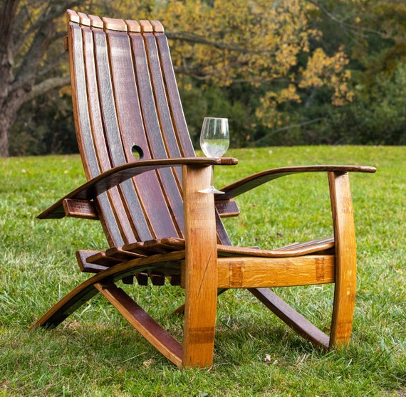 Groovy Adirondack Chair Wine Barrel Chair Wine Barrel Furniture Rustic Chair Patio Chair Outdoor Furniture Barrel Chair Oak Barrel Andrewgaddart Wooden Chair Designs For Living Room Andrewgaddartcom