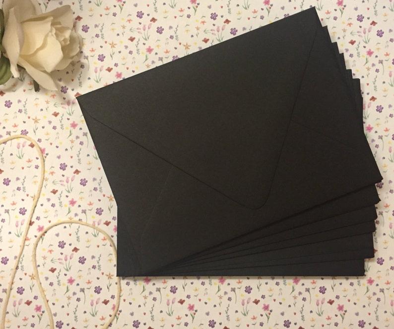 A7 Black Euro Flap Envelopes 25 pk