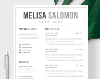 single page resume template