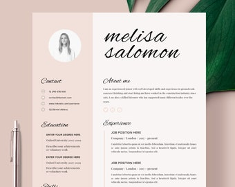 Cv Design Template Etsy