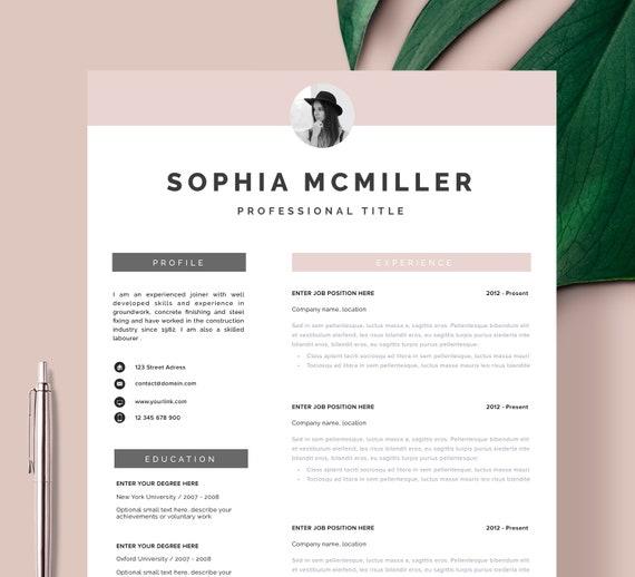 Resume Template Resume Cv Template Cv Design Curriculum Etsy