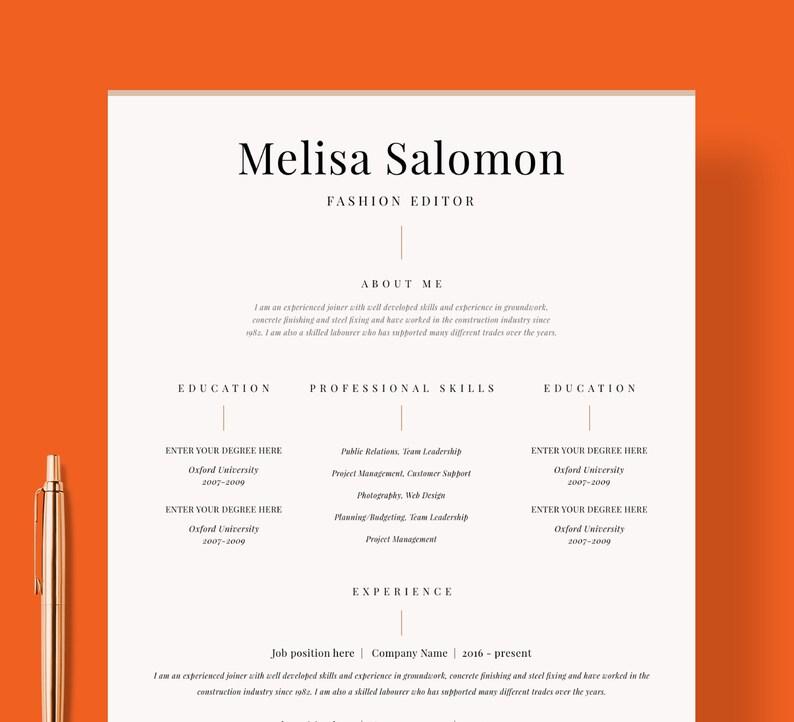 Resume Template CV Design Curriculum
