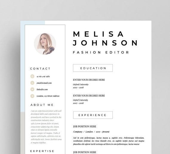 Resume Template | CV Template | Resume | CV design | Teacher resume |  Curriculum Vitae | CV Instant download Resume | cv | Resume Templates