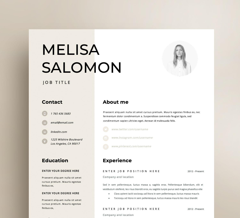 resume template cv template resume cv design teacher