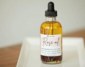 Rose Oil (1, 2, or 3.85 oz), Organic Rose Oil, Rose Oil for Face