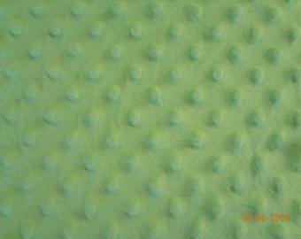 "Light Mint Green Soft Minky Fabric Piece - 20"" x 36"""