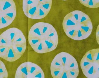 "1 Yard - A Stitch in Color by Moda Sanddollar Print Cotton Fabric - 44"" wide"
