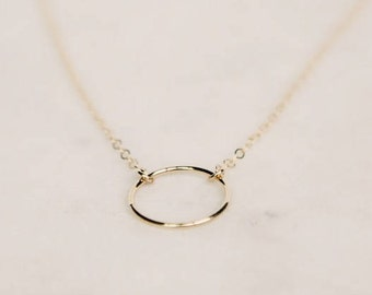 Circle Ring Necklace