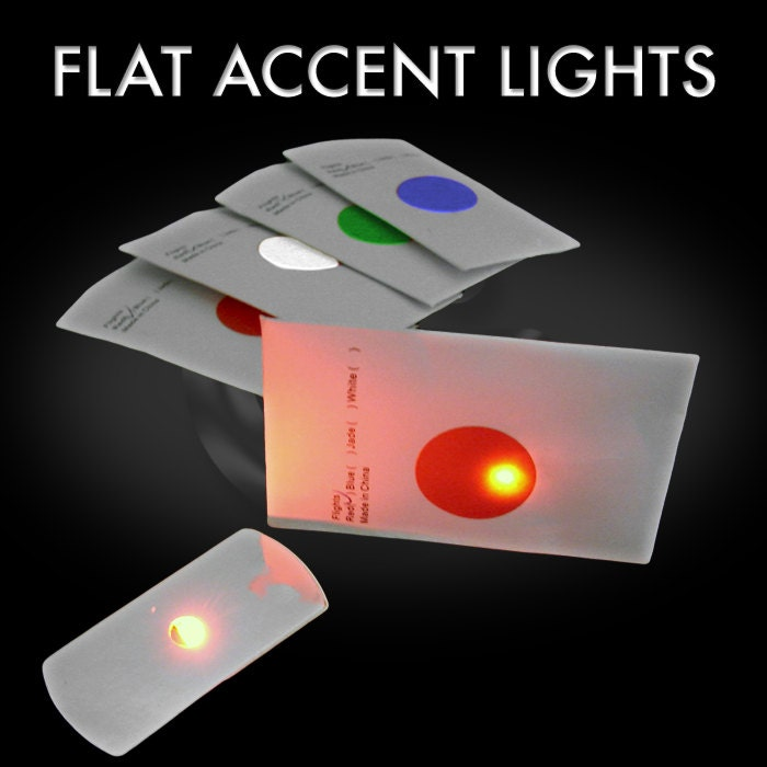 10-Pack of LED Flat LEDs - disc golf lights - One-color Flat LED Accent  Light - Extreme Glow Disc Golf Flights