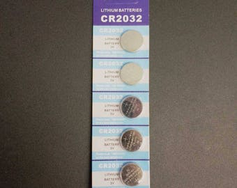 5-Pack of CR2032 Replacement Batteries - for Fairy Lights with Replaceable Button Batteries