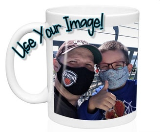 Customized Photo Ceramic Mug - Include your picture and/or text!  Great for Birthday & Anniversary gifts! Sold in singles or bulk sets