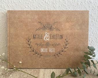 """Gästebuch """"Lovely Craft"""" mit Fragen - für die Hochzeit"""