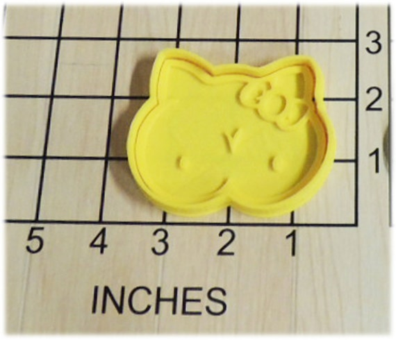 Hello Titty Boob Cat Fondant Cookie Cutter and Stamp #1252