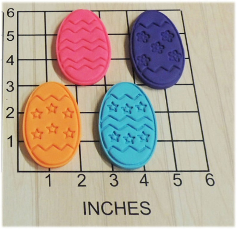 Easter Egg Shape Fondant Cookie Cutter and Stamp Set #1105