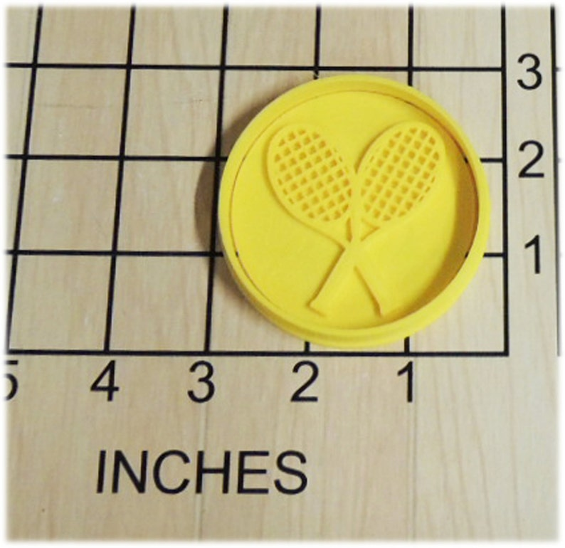 Tennis Rackets Fondant Cookie Cutter and Stamp #1329