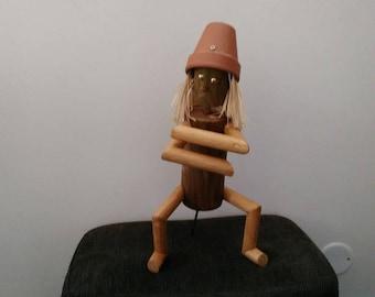 The haka - the thinker of log - little man wooden
