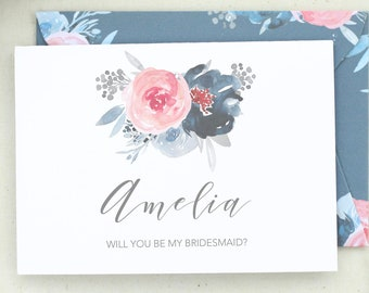 Will You Be My Bridesmaid Card. Flower Girl Proposal. Maid of Honor Proposal. Proposal Card. Flower Girl Card. Bridesmaid Card. BM16