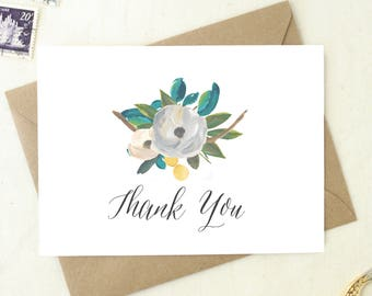 wedding shower thank you cards blank cards floral thank you notes baby shower thank you cards shower thank you wedding thank you ty13