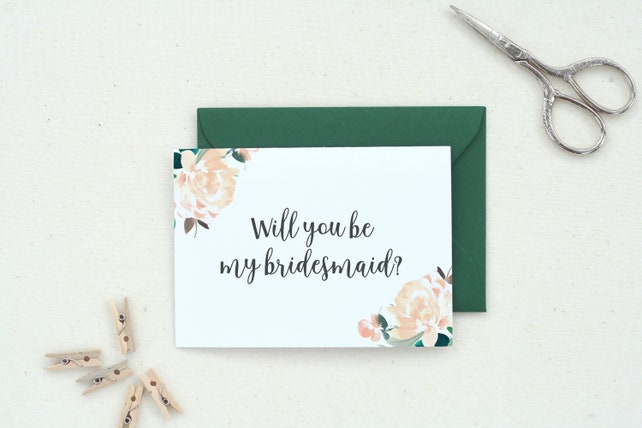 Maid of Honor Gift. Personalized Gift. Wedding Card. Flower Girl Proposal. Bridal Party Gifts. Maid of Honor Proposal. Bridesmaid. BM-41