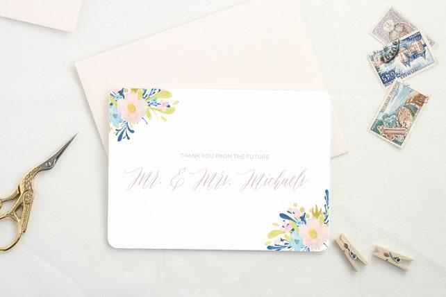 Wedding Gift Stationary Personalized Stationary Sets Thank You