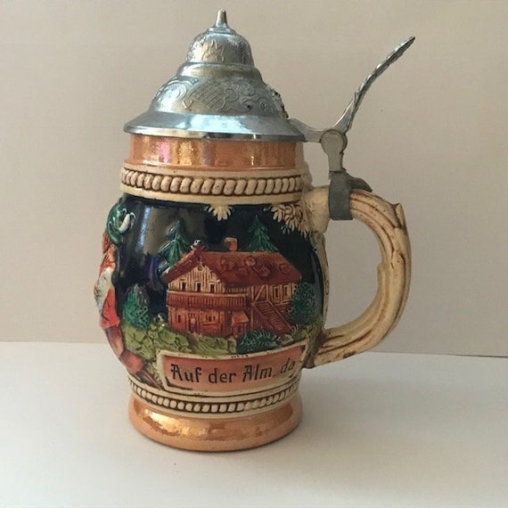 Two Vintage West Germany Drinking Steins
