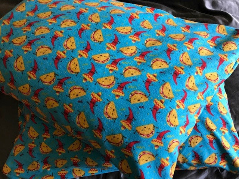 Soft Flannel Donuts And Rainbows Pillowcase cotton standard size handmade