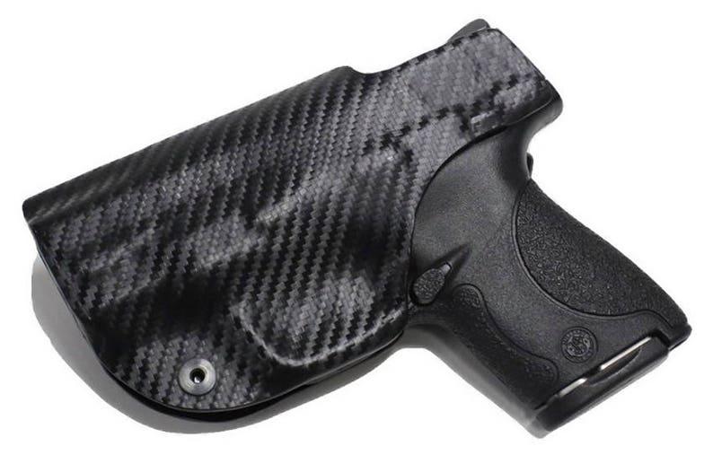 Kimber 1911 Ultra Custom Made Black Kydex Carbon Fiber Retention IWB  Holster w/ Slide Sweat shield - Lifetime Warranty,