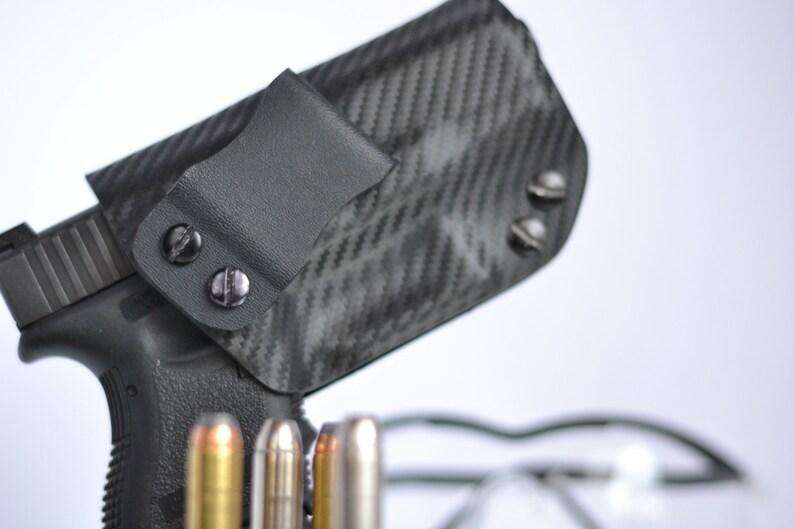Walther PK380 Custom Made Black Kydex Carbon Fiber Retention IWB Holster -  Lifetime Warranty