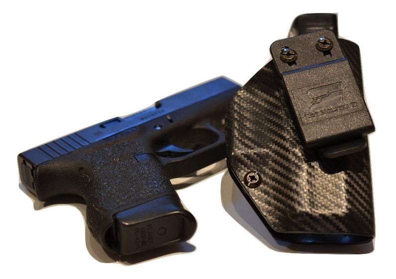 Taurus PT111 G2 Custom Made Black Kydex Carbon Fiber Retention IWB Holster  w/ Slide Sweat Shield - Lifetime Warranty