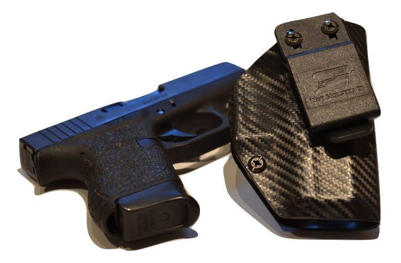 Sig Sauer P238 Custom Made Black Kydex Carbon Fiber Retention IWB Holster -  Lifetime Warranty