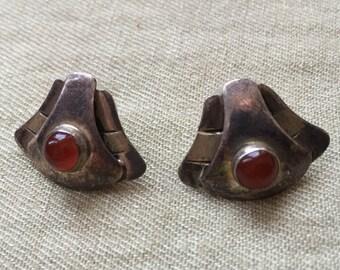 Red Stone Earrings -- 731